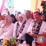 Gubernur Jatim Khofifah saat di Kediri.