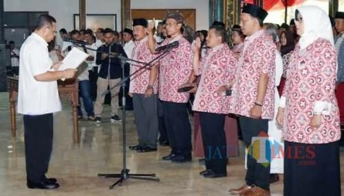 Pelantikan Anggota BPD Se Kabupaten Tulungagung beberapa waktu lalu / Foto : Istimewa / Tulungagung TIMES