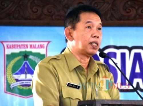 Sekda Kabupaten Malang Didik Budi Muljono mengatakan masih minim calon pejabat eselon II yang akan ikut seleksi. (dok MalangTIMES)