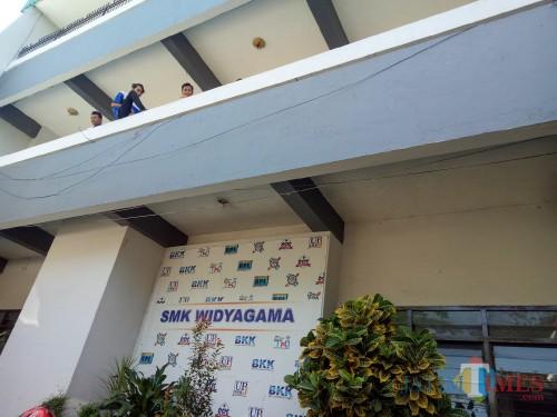 SMK Widyagama, sekolah siswa yang ditelantarkan orang tuanya. (Foto: Imarotul Izzah/MalangTIMES)