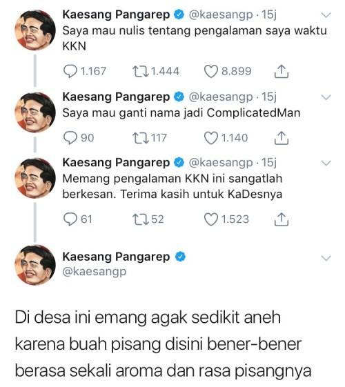 Cuitan Kaesang ditwitternya.