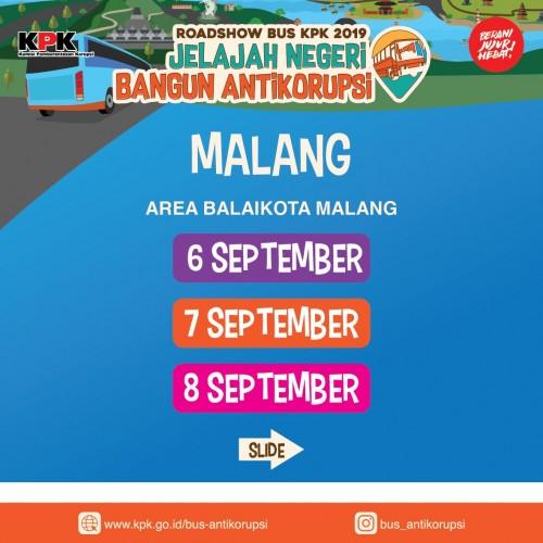 Poster roadshow KPK RI ke Kota Malang. (Foto: Humas Pemkot Malang)