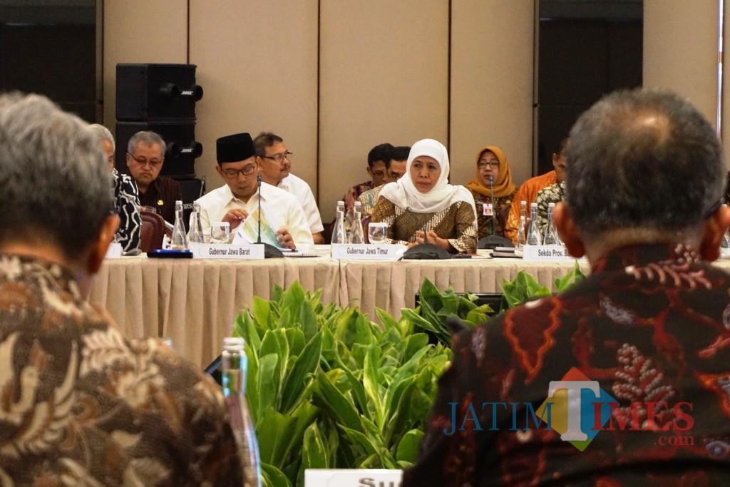 Rapat Koordinasi Pemerintah, Pemerintah Daerah (Rakorpusda) dan Bank Indonesia/BI yang digelar di Gedung Thamrin, BI, Jl. MH. Thamrin No. 2, Jakarta, Rabu(4/9) sore.