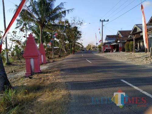 Suasana Desa Tumpak Gedang Masuk Desa Rejosari, Jalan Ini Menuju Ke Pantai Sine / Foto : Anang Basso / Tulungagung TIMES
