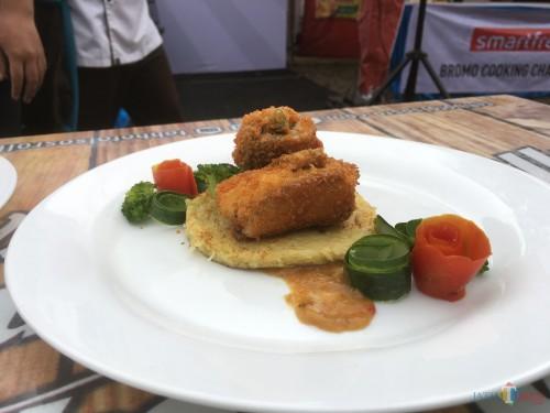 Salah satu menu yang disajikan oleh pihak katering yang ada di Kabupaten Malang (Foto : Ashaq Lupito / MalangTIMES)