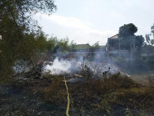 Kondisi rerumpunan bambu yang baru saja terbakar (ist)