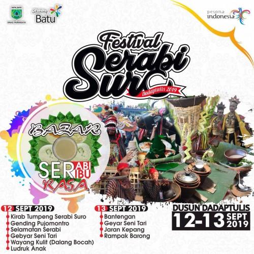 Banner Festival Serabi Suro. (Foto: Dinas Pariwisata Kota Batu for MalangTIMES)