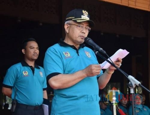 Plt Bupati Malang Sanusi saat membuka acara Haornas ke-36 di Pendapa Kabupaten Malang, Kepanjen, Senin (09/09) (Nana)