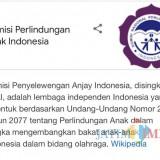 Laman Wikipedia KPAI Diedit, Jadi Komisi Penyelewengan Anjay Indonesia