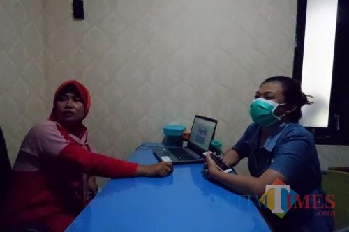 Angel saat melapor di Polres Pasuruan.