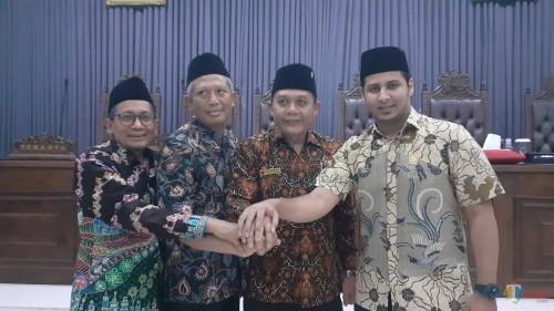 Kika: Abdurrochman (PKB), H. Asmualik (PKS), I Made Rian DK (PDI Perjuangan), dan Rimzah (Gerindra) sebagai empat nama yang direkomendasikam partai untuk menduduki kursi pimpinan DPRD Kota Malang periode 2019-2024 (Pipit Anggraeni/MalangTIMES).