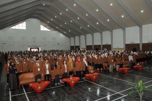 Suasana  Program Pengenalan Pendidikan Tinggi (P3T) Kampus  Unikama (Unikama for MalangTIMES)