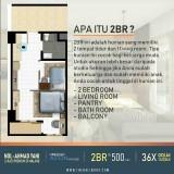 Apartemen 2 Bedroom The Kalindra Cocok untuk Keluarga Muda, Cicilan Hanya Rp 1,5 Juta