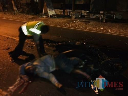 Kondisi Juri sesaat setelah kejadian kecelakaan. / Foto : Dokpol / Tulungagung TIMES