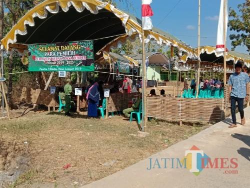 Pelaksanaan pilkades di Desa Lemper, Pademawu.