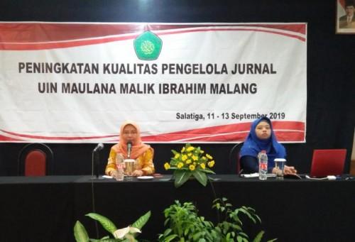 Peningkatan Kualitas Pengelola Jurnal UIN Maulana Malik Ibrahim Malang. (Foto: Humas)