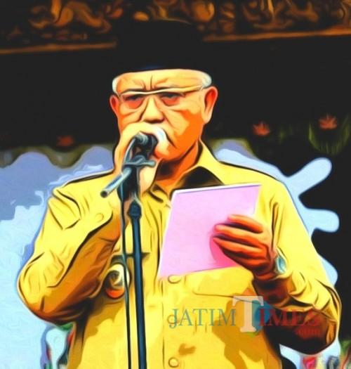 Plt Bupati Malang Sanusi menghitung hari saat pelantikan Bupati Malang Definitif (Nana)