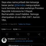 Prabowo Subianto Ucapkan Duka Wafatnya BJ Habibie, Warganet Minta Jangan Lupakan Kivlan Zein
