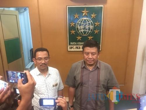 Muslimin selaku Sekretaris DPC PKB Kabupaten Malang, saat ditemui usai pembahasan pembentukan tim tujuh (Foto : Ashaq Lupito / MalangTIMES)
