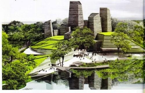 Ilustrasi penataan kota dengan konsep green building (Ist)