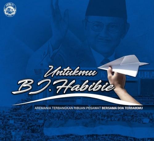 Postingan Arema FC mengenang Presiden ke 3 Republik Indonesia, BJ Habibie (Instagram official Arema FC)