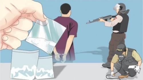 Ilustrasi sopir jadi pengedar sabu (lampung.tribunnews.com)