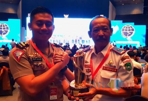 Kepala Dishub Kabupaten Malang Hafi Lutfi setelah menerima penghargaan WTN 2019 dari Kemenhub RI (for MalangTIMES)