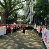 Tolak RUU P-KS, Sejumlah Mahasiswa Geruduk Gedung DPRD Kota Malang