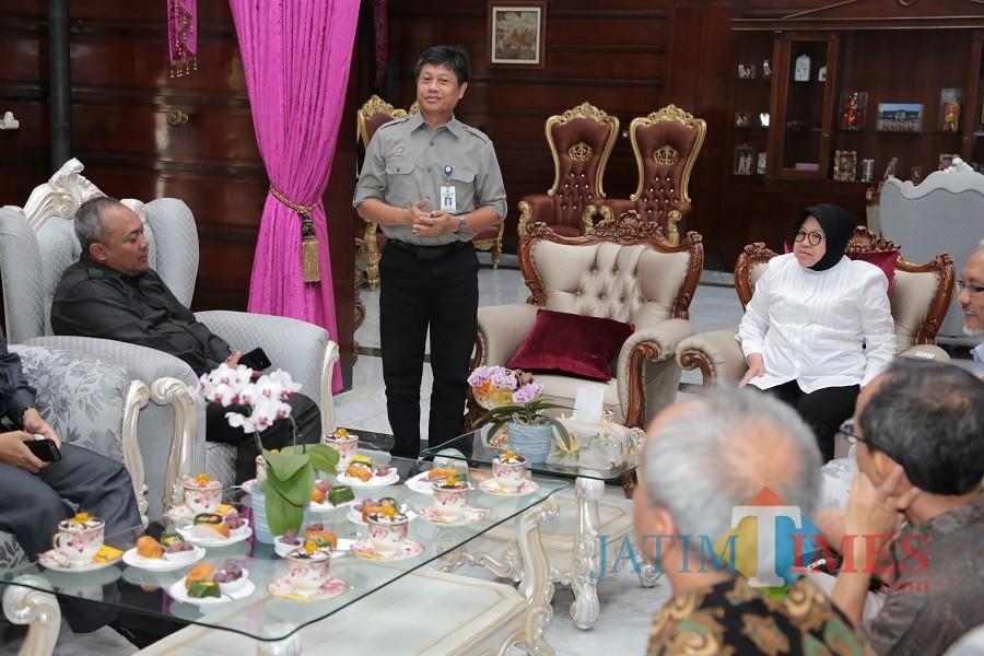 Pertemuan di rumah dinas Wali Kota Surabaya