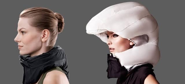Helm khusus pengendara sepeda dilengkapi airbag dan bluethoot. (Foto: Istimewa)