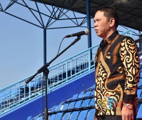 Sekretaris Daerah (Sekda) Kabupaten Malang Didik Budi Muljono berkomitmen bersama jajaran menyukseskan pembangunan infrastruktur jalan. (for MalangTIMES)