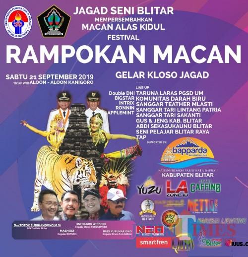 Festical Rampokan Macan akan digelar di Alun-alun Kanigoro Blitar