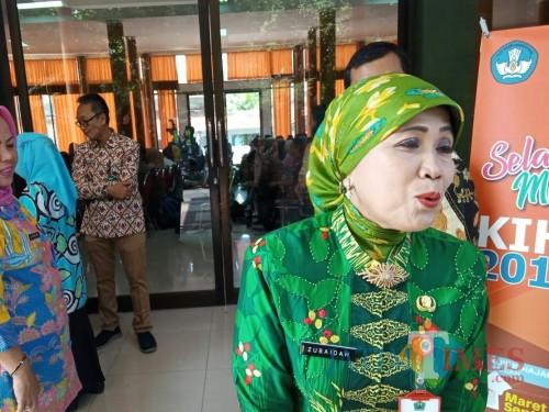 Kepala Dinas Pendidikan Kota Malang Dra Zubaidah MM. (Foto: Imarorul Izzah/MalangTIMES)