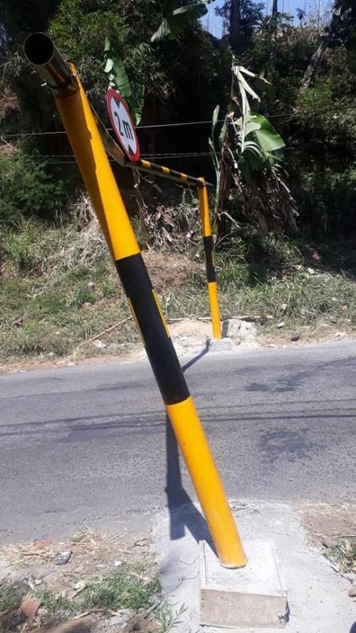 Belum Sebulan, Portal di Dusun Klemuk Kota Batu Rusak oleh Pengendara yang Lewat
