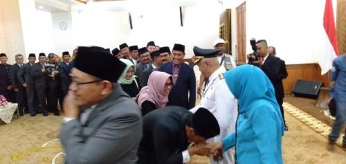 KC anggota DPRD Kabupaten Malang saat menghadiri acara pelantikan Bupati Malang di Surabaya (Foto : Istimewa)