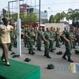 Sukseskan HUT Ke-74 TNI, Kodim 0808/Blitar Latihan Bersama Tari Sajojo