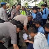 Curiga Ada Gerakan Demonstrasi, Polres Malang Kota Lakukan Sweeping, Sejumlah Siswa Diamankan