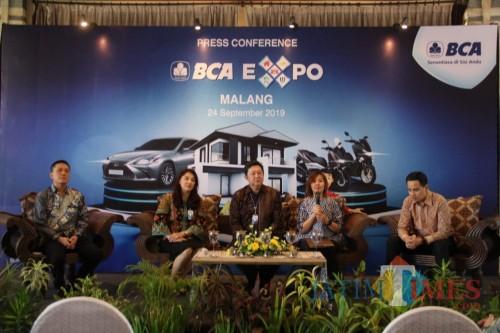 Konferensi pers BCA Expo yang akan berlangsung di Kota Malang, akhir pekan mendatang. (Foto: Nurlayla Ratri/MalangTIMES)