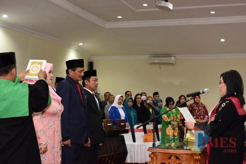 Sumpah Janji Pimpinan DPRD Kota Kediri periode 2019-2024. (Foto: Istimewa)