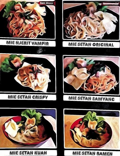 Ilustrasi produk makanan dengan label setan yang diharamkan MUI Sumbar (Ist)