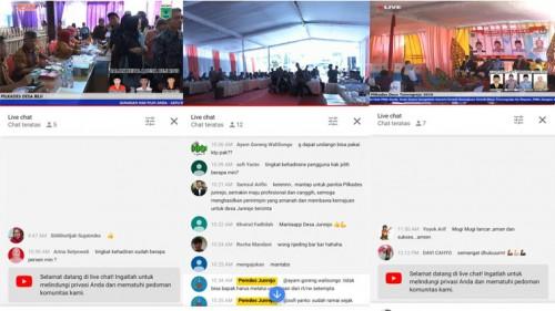 Live streaming youtube proses pemilihan kepala desa di Kecamatan Junrejo.