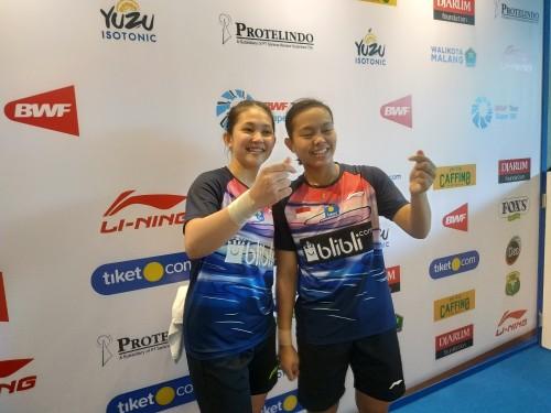Ribka Sugiarto/Siti Fadia Silva Ramadhanti saat ditemui usai laga (Hendra Saputra)