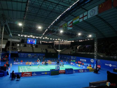 Venue pertandingan final Yuzu Indonesia Masters 2019, GOR Ken Arok Kota Malang (Hendra Saputra)