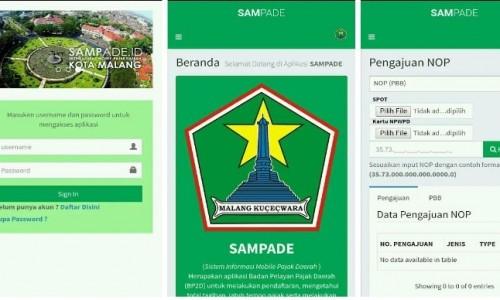 Aplikasi SAMPADE (Istimewa)