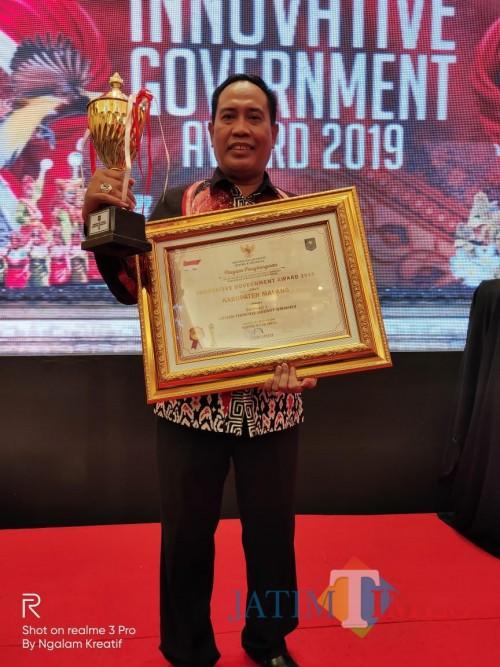 Kepala Balitbangda Kabupaten Malang M Hidayat di acara penganugerahaan innovative government award 2019 (for MalangTimes)