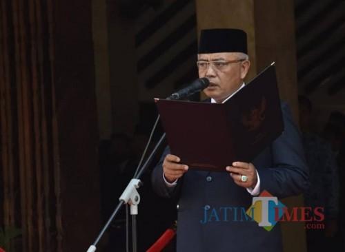 Bupati Malang Sanusi berharap agar Perda Penanaman Modal bisa segera terbit untuk menjawab kebutuhan investasi di Kabupaten Malang. (Humas Pemkab Malang)