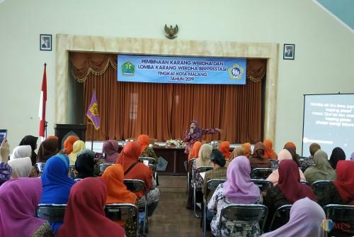 Forum Komunikasi Arjuno Kecamatan Klojen saat diberi pembinaan.(Hendra Saputra)