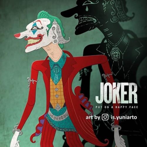 Karya joker versi wayang buatan Is Yuniarto. (Foto: instagram @is.yuniarto)