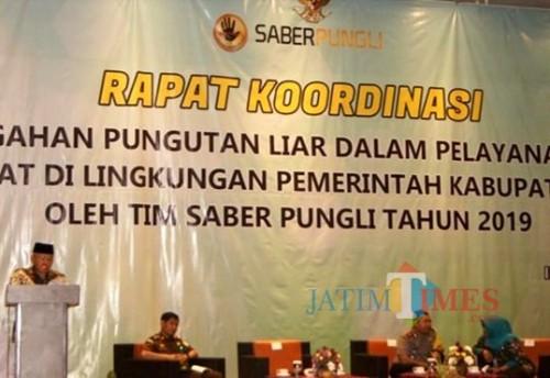 Pemkab Malang kembali gelar rakor pencegahan pungli kepada ratusan kades dan kepala sekolah se-Kabupaten Malang (nana)