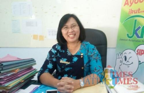 Kabid Pelayanan Kesehatan Dinkes Kabupaten Blitar, dr Christine Indrawati.(Foto : Aunur Rofiq/BlitarTIMES)